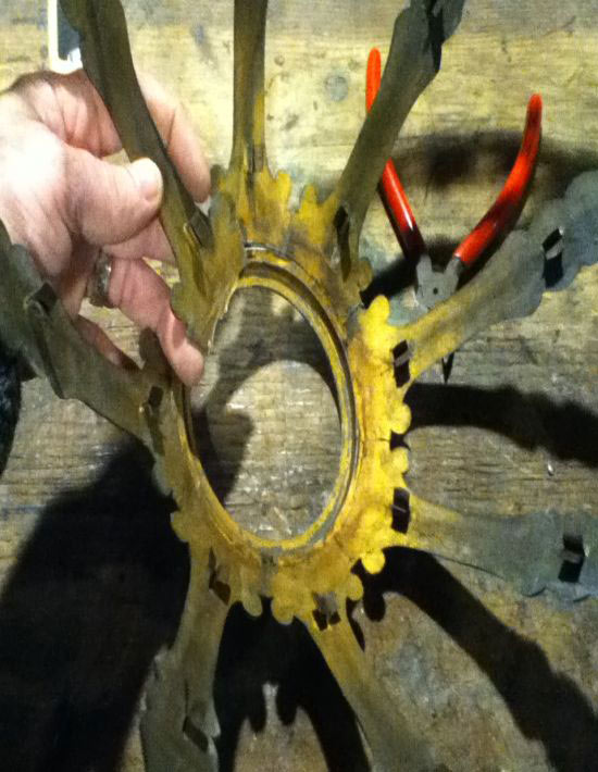 metal slag glass frame repairs