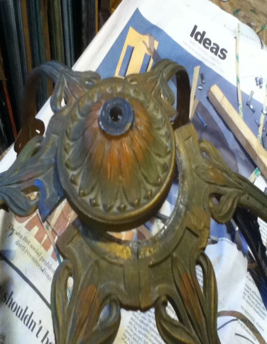 bradley and hubbard lamp frame repair